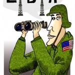 Parodia de un soldado norteamericano interesado en el petróleo de Gaddafi
