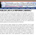 Captura de la web de Izquierda Hispánica en 2010